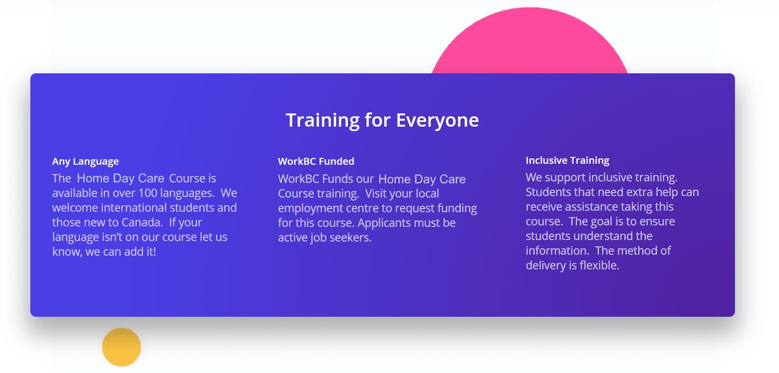 Inclusive Training Head Start Online School